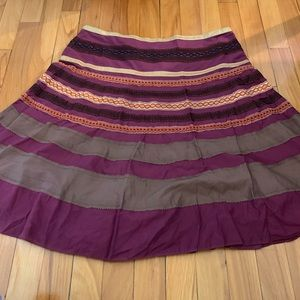 The Limited Purple Flowy Skirt